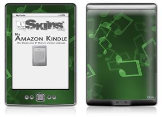 Bokeh Music Green - Decal Style Skin (fits 4th Gen Kindle with 6inch display and no keyboard)
