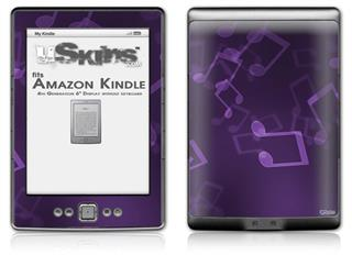 Bokeh Music Purple - Decal Style Skin (fits 4th Gen Kindle with 6inch display and no keyboard)