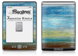 Landscape Abstract Beach - Decal Style Skin (fits 4th Gen Kindle with 6inch display and no keyboard)
