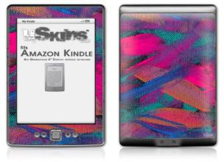 Painting Brush Stroke - Decal Style Skin (fits 4th Gen Kindle with 6inch display and no keyboard)