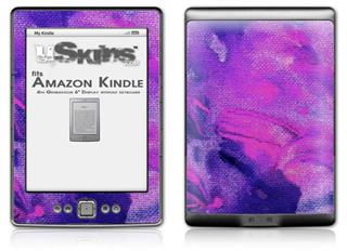 Painting Purple Splash - Decal Style Skin (fits 4th Gen Kindle with 6inch display and no keyboard)