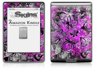 Butterfly Graffiti - Decal Style Skin (fits 4th Gen Kindle with 6inch display and no keyboard)