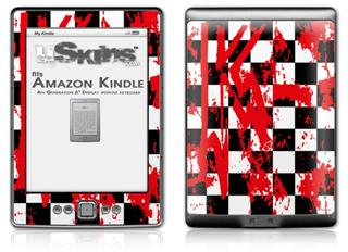 Checkerboard Splatter - Decal Style Skin (fits 4th Gen Kindle with 6inch display and no keyboard)