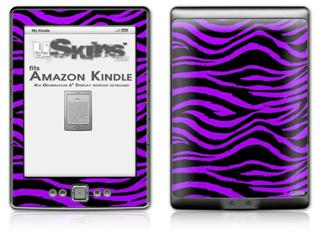 Purple Zebra - Decal Style Skin (fits 4th Gen Kindle with 6inch display and no keyboard)