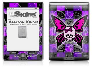 Butterfly Skull - Decal Style Skin (fits 4th Gen Kindle with 6inch display and no keyboard)