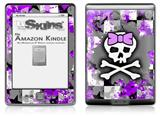 Purple Princess Skull - Decal Style Skin (fits 4th Gen Kindle with 6inch display and no keyboard)