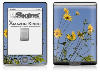 Yellow Daisys - Decal Style Skin (fits 4th Gen Kindle with 6inch display and no keyboard)