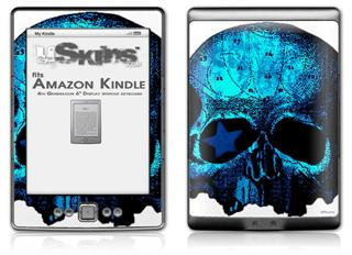 Blueskull - Decal Style Skin (fits 4th Gen Kindle with 6inch display and no keyboard)