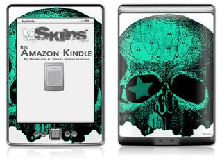 Greenskull - Decal Style Skin (fits 4th Gen Kindle with 6inch display and no keyboard)
