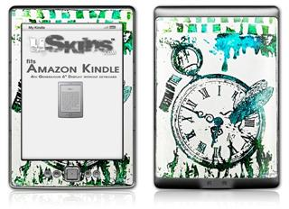Question of Time - Decal Style Skin (fits 4th Gen Kindle with 6inch display and no keyboard)