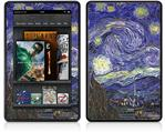 Amazon Kindle Fire (Original) Decal Style Skin - Vincent Van Gogh Starry Night