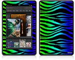 Amazon Kindle Fire (Original) Decal Style Skin - Rainbow Zebra