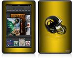 Amazon Kindle Fire (Original) Decal Style Skin - Iowa Hawkeyes Helmet