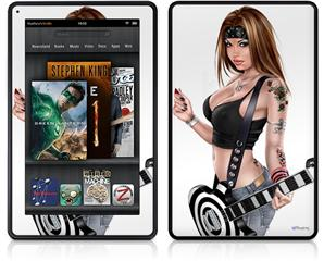 Amazon Kindle Fire (Original) Decal Style Skin - AXe Pin Up Girl
