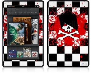 Amazon Kindle Fire (Original) Decal Style Skin - Emo Skull 5