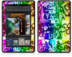Amazon Kindle Fire (Original) Decal Style Skin - Rainbow Graffiti