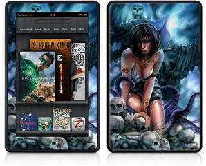 Amazon Kindle Fire (Original) Decal Style Skin - Bride of Cthulhu