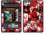 Amazon Kindle Fire (Original) Decal Style Skin - Red Graffiti