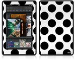 Amazon Kindle Fire (Original) Decal Style Skin - Kearas Polka Dots White And Black