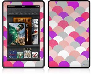 Amazon Kindle Fire (Original) Decal Style Skin - Brushed Circles Pink