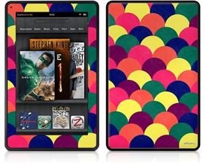 Amazon Kindle Fire (Original) Decal Style Skin - Brushed Cirlces Multi Dark