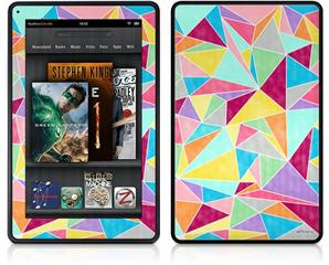 Amazon Kindle Fire (Original) Decal Style Skin - Brushed Geometric
