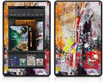 Amazon Kindle Fire (Original) Decal Style Skin - Abstract Graffiti