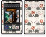 Amazon Kindle Fire (Original) Decal Style Skin - Elephant Love