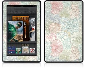 Amazon Kindle Fire (Original) Decal Style Skin - Flowers Pattern 02