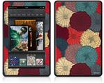 Amazon Kindle Fire (Original) Decal Style Skin - Flowers Pattern 04