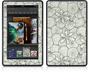 Amazon Kindle Fire (Original) Decal Style Skin - Flowers Pattern 05