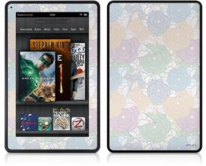 Amazon Kindle Fire (Original) Decal Style Skin - Flowers Pattern 10