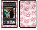 Amazon Kindle Fire (Original) Decal Style Skin - Flowers Pattern Roses 13