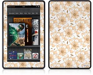 Amazon Kindle Fire (Original) Decal Style Skin - Flowers Pattern 15