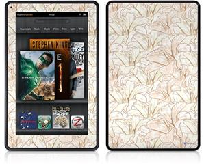 Amazon Kindle Fire (Original) Decal Style Skin - Flowers Pattern 17