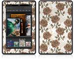 Amazon Kindle Fire (Original) Decal Style Skin - Flowers Pattern Roses 20