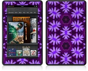 Amazon Kindle Fire (Original) Decal Style Skin - Abstract Floral Purple