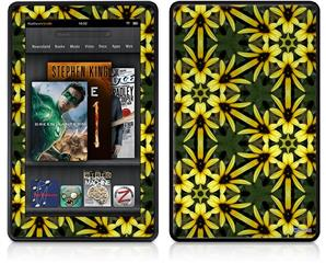 Amazon Kindle Fire (Original) Decal Style Skin - Daisy Yellow