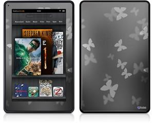 Amazon Kindle Fire (Original) Decal Style Skin - Bokeh Butterflies Grey