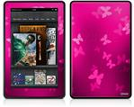 Amazon Kindle Fire (Original) Decal Style Skin - Bokeh Butterflies Hot Pink