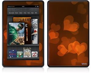 Amazon Kindle Fire (Original) Decal Style Skin - Bokeh Hearts Fire