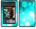 Amazon Kindle Fire (Original) Decal Style Skin - Bokeh Hex Neon Teal