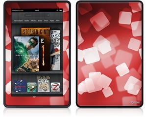 Amazon Kindle Fire (Original) Decal Style Skin - Bokeh Squared Red