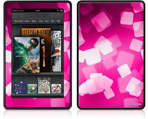 Amazon Kindle Fire (Original) Decal Style Skin - Bokeh Squared Hot Pink