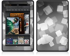 Amazon Kindle Fire (Original) Decal Style Skin - Bokeh Squared Grey