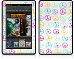 Amazon Kindle Fire (Original) Decal Style Skin - Kearas Peace Signs