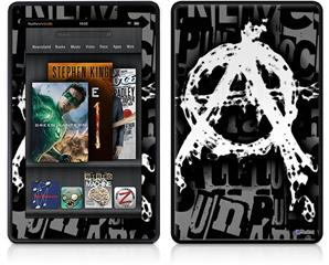 Amazon Kindle Fire (Original) Decal Style Skin - Anarchy