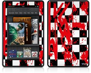 Amazon Kindle Fire (Original) Decal Style Skin - Checkerboard Splatter