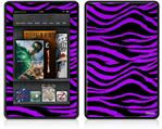 Amazon Kindle Fire (Original) Decal Style Skin - Purple Zebra