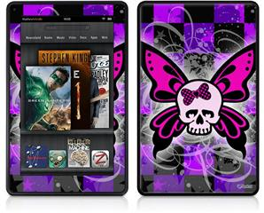 Amazon Kindle Fire (Original) Decal Style Skin - Butterfly Skull
